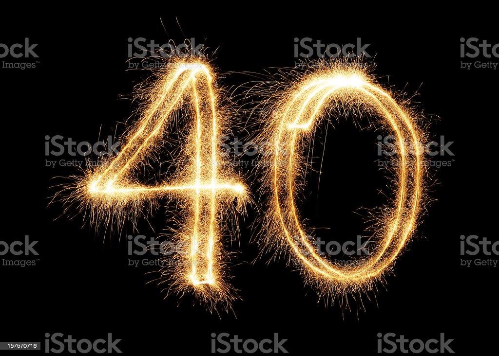Sparkling Number 40 (XXL) stock photo