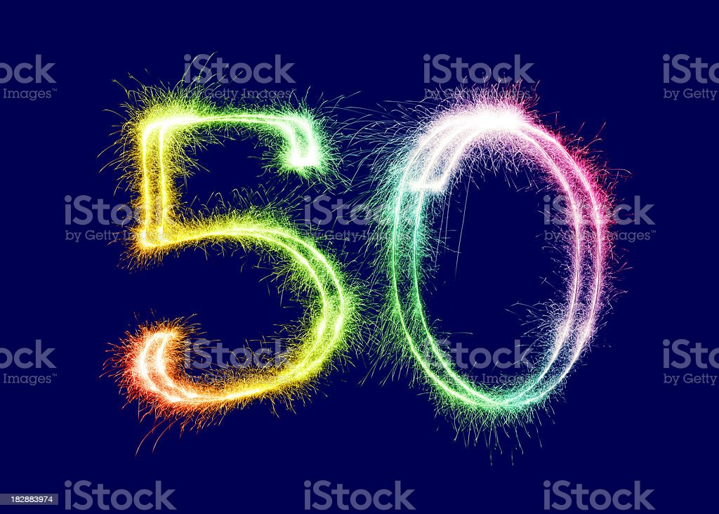 Sparkling Number 50 (XXL) royalty-free stock photo