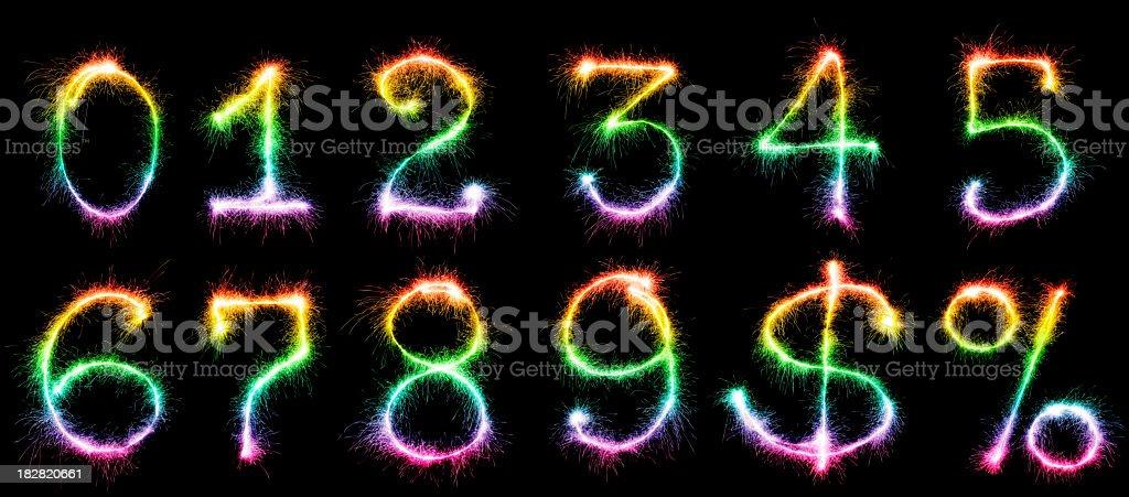 Resplandeciente números (XXXL - foto de stock