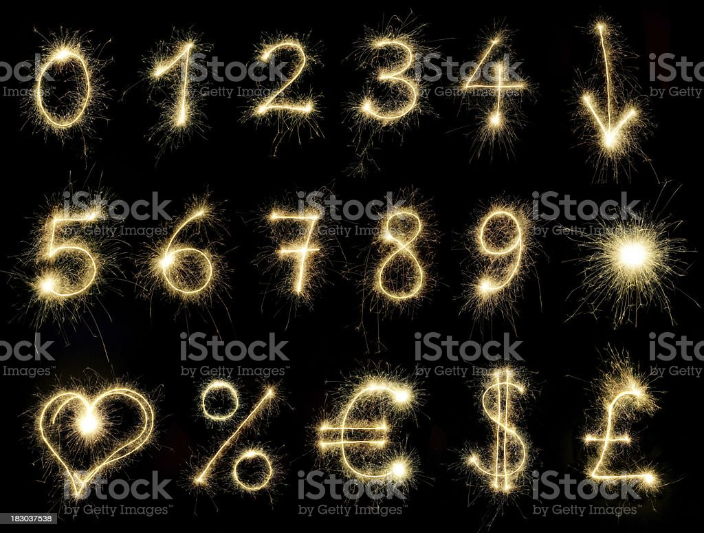 Sparkling Numbers royalty-free stock photo