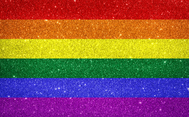 Sparkling pride rainbow colored flag Sparkling pride rainbow colored flag lgbtqi pride event stock pictures, royalty-free photos & images