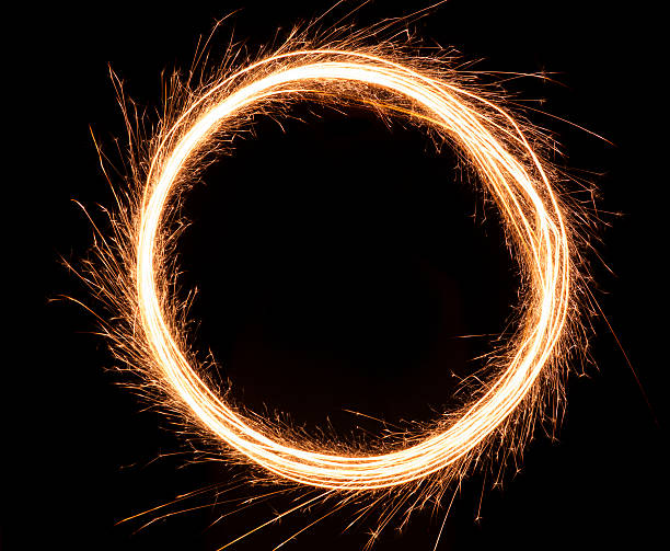 Sparkling Ring of Fire stock photo