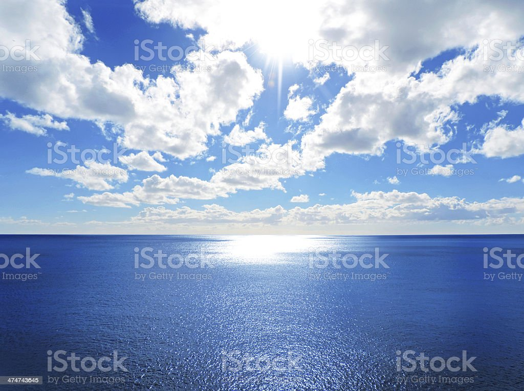 Sparkling sea stock photo