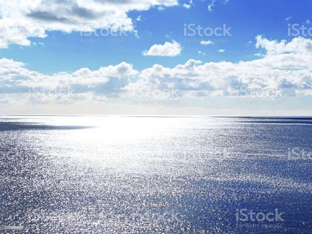 Sparkling sea stock photo