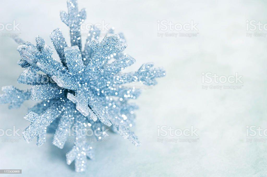 sparkling snowflake royalty-free stock photo