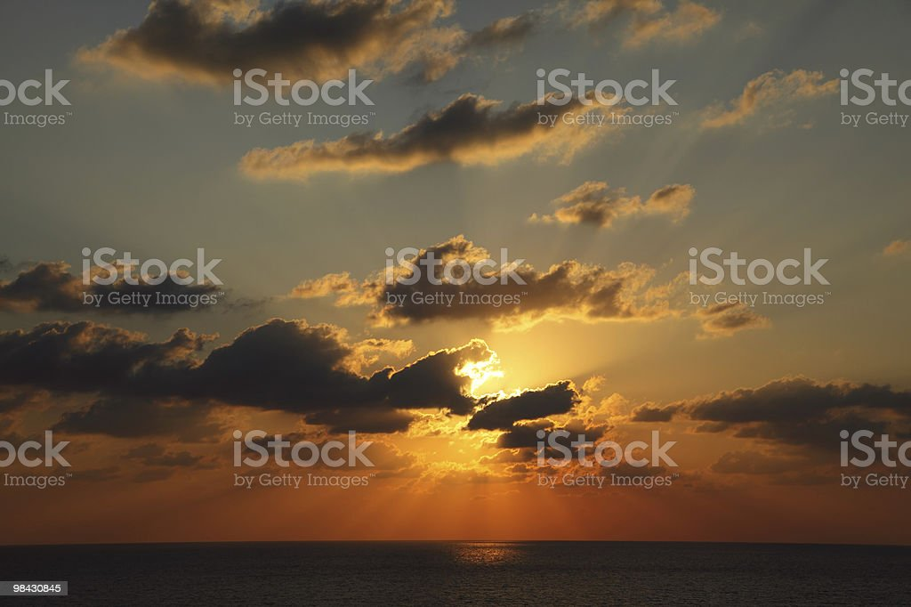 Sparkling sunset in the summer royalty-free stock photo