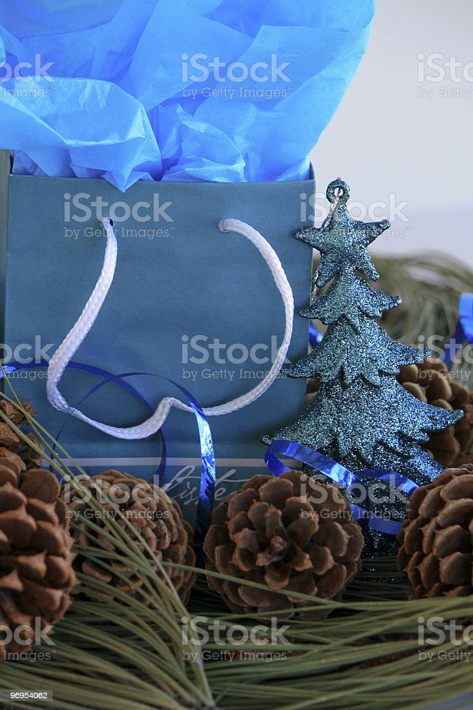 Sparkling Teal Christmas royalty-free stock photo