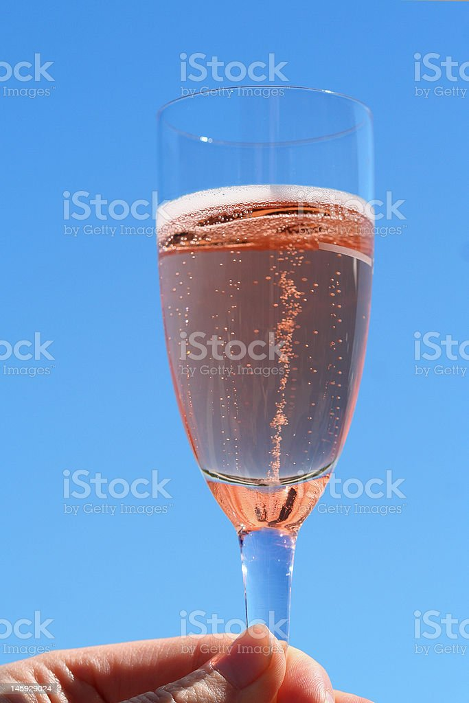 Sparkling wine royalty-free stock photo