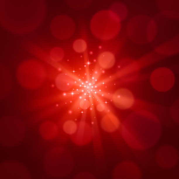 Sparkly Red Background stock photo