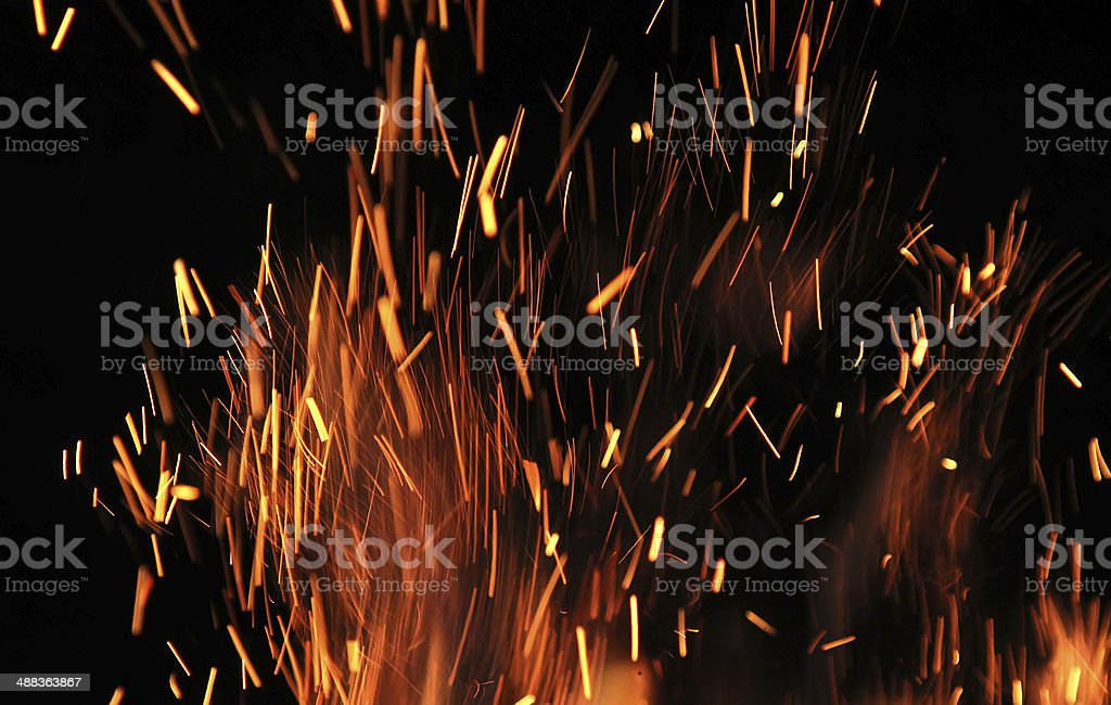 Sparks and Flames stock photo