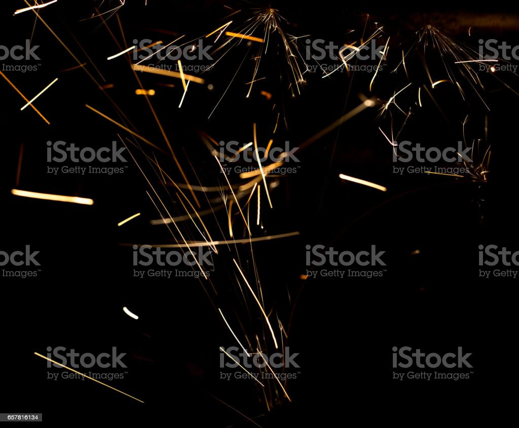 Sparks From Metal On Construction Site As Background Royalty Free Stock Photo