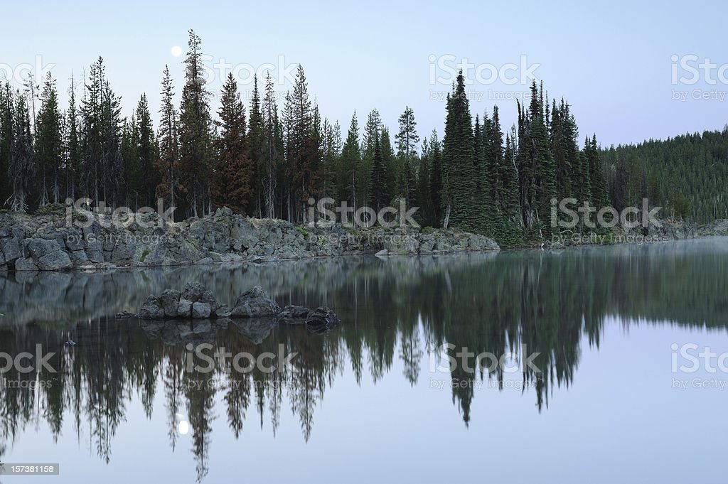Sparks Lake and Moon royalty-free stock photo
