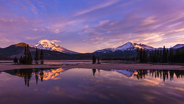 Sparks Lake at Sunrise - foto stock