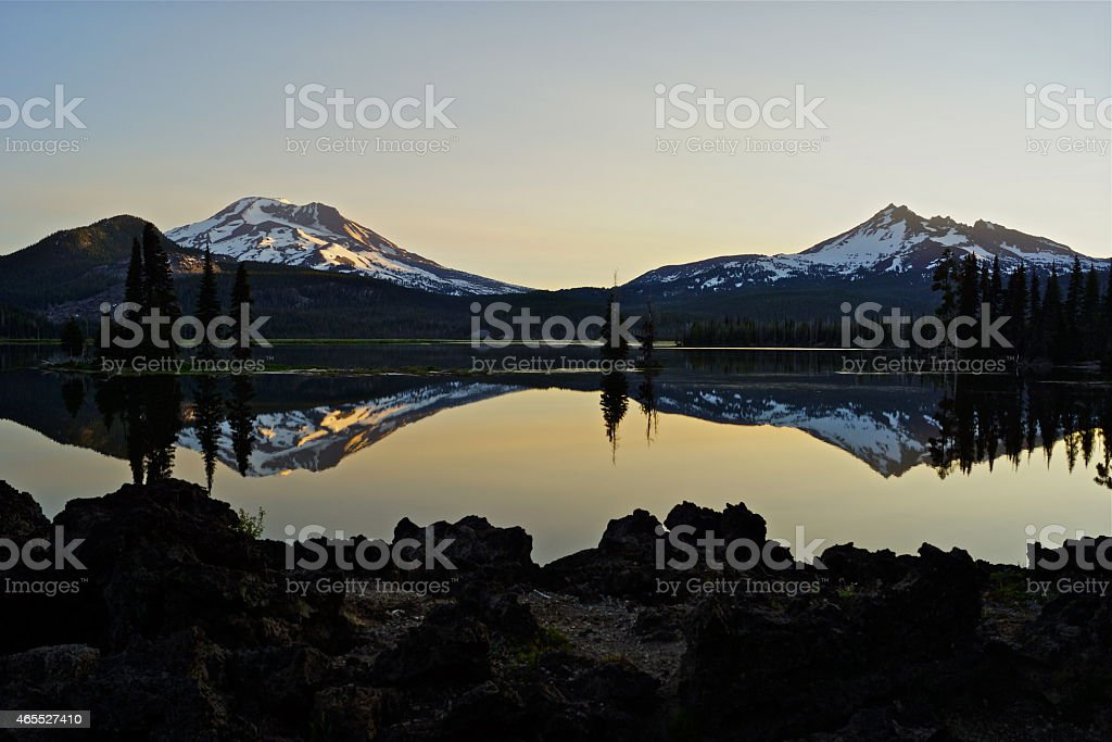 Sparks Lake Dawn stock photo