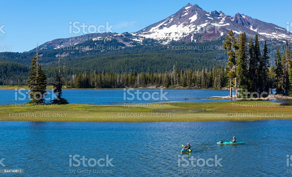 Sparks Lake in Summer stock photo