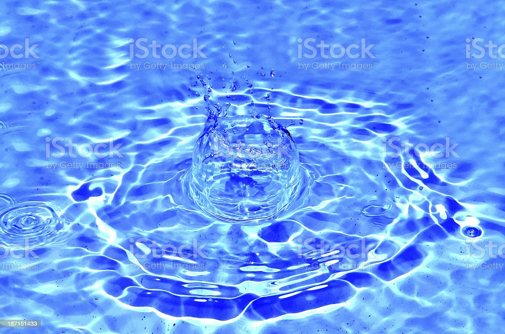 Sparks of blue water royalty-free stock photo