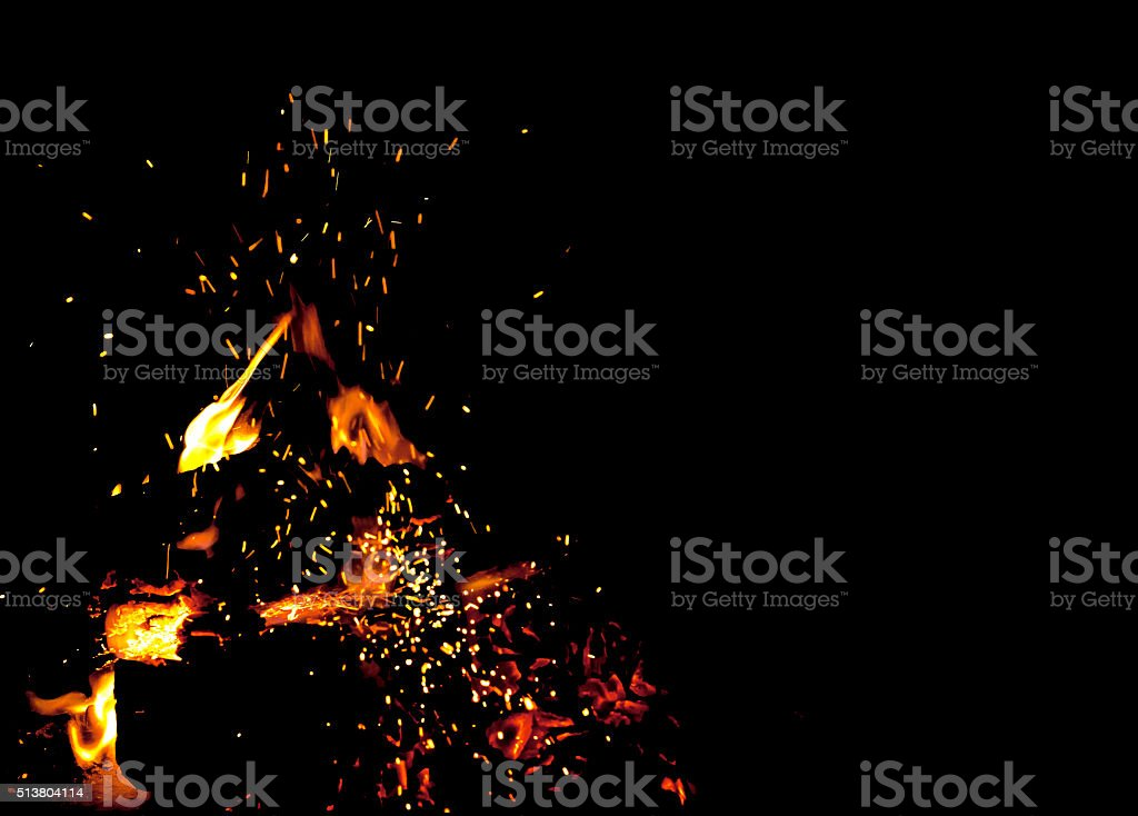Sparks of fire stock photo