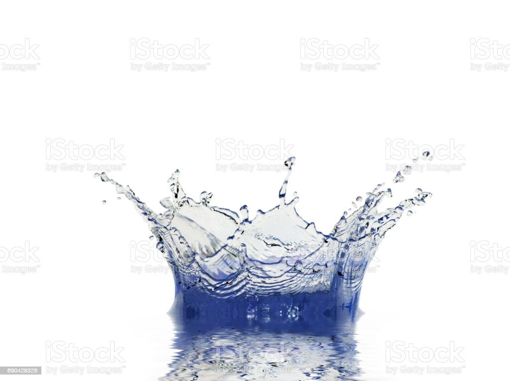 sparks of water stock photo