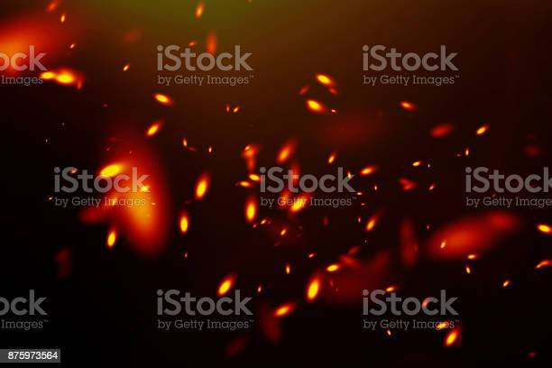 Photo of Sparks on a black background.