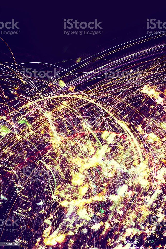 Sparky Particles Abstract stock photo