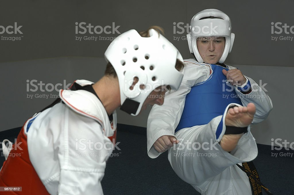 Sparring 1 royalty-free stock photo