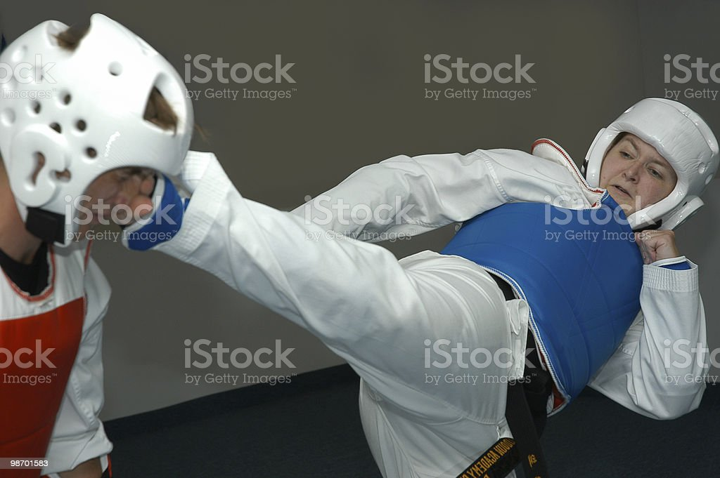 Sparring 3 royalty-free stock photo