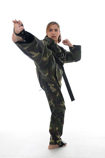 Sparring camouflage stock photo