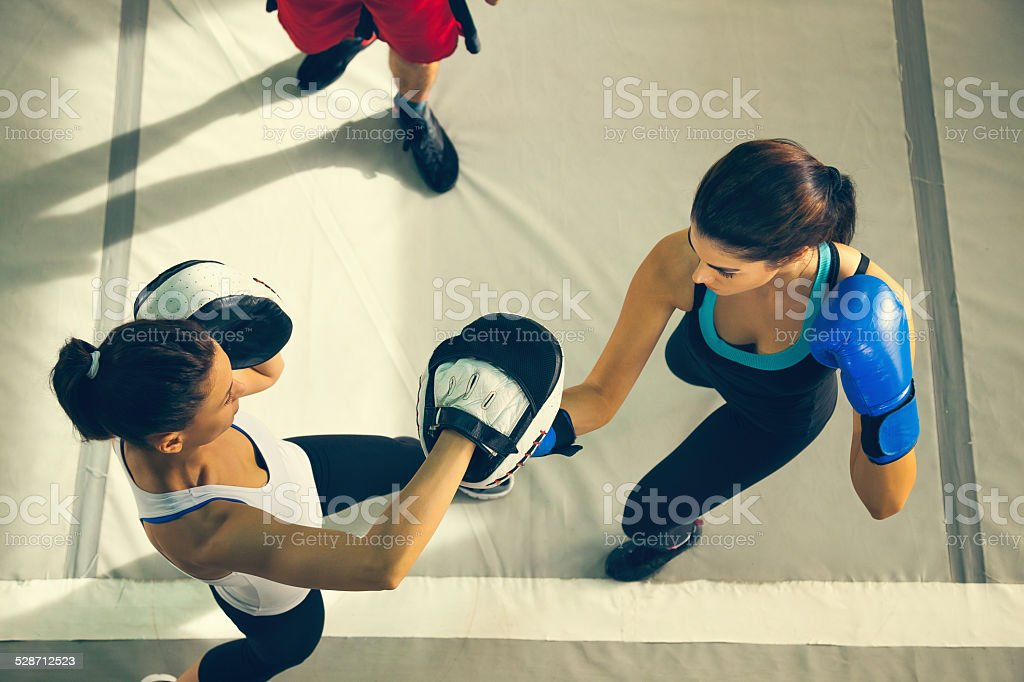 Sparring stock photo