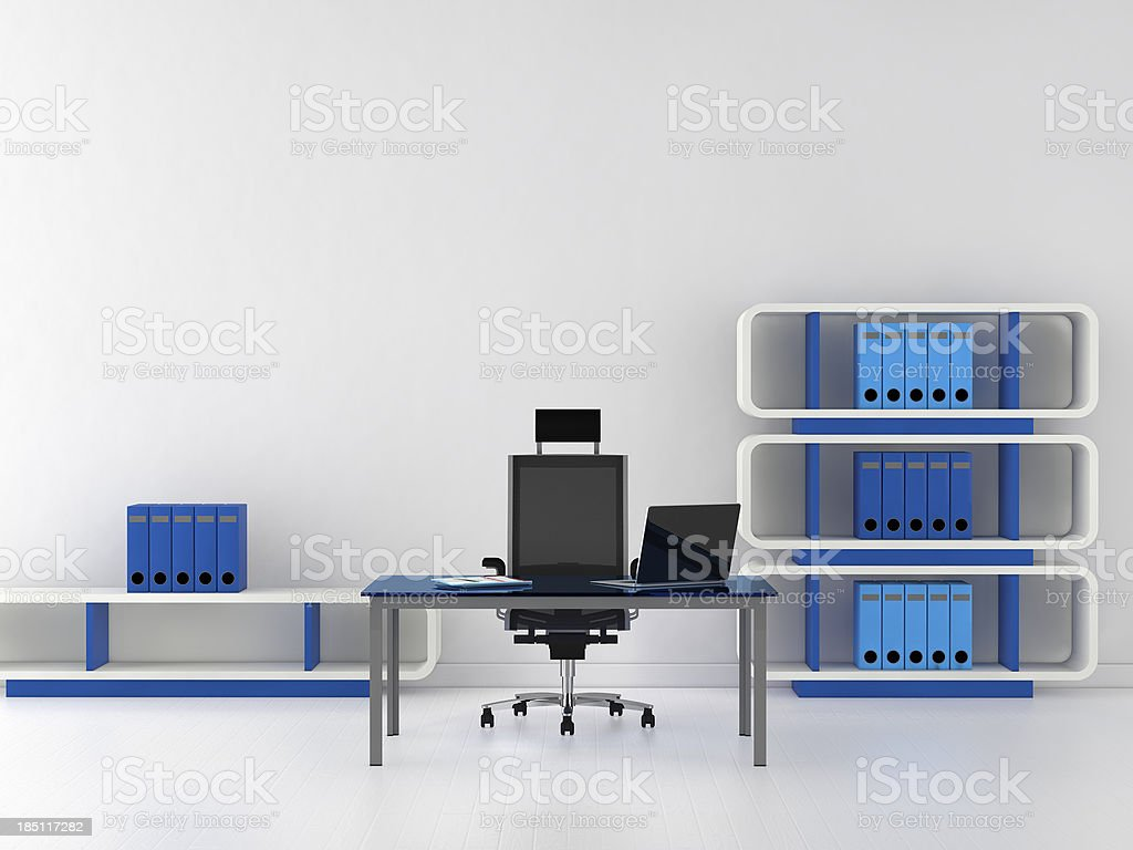 Sparse modern office stock photo