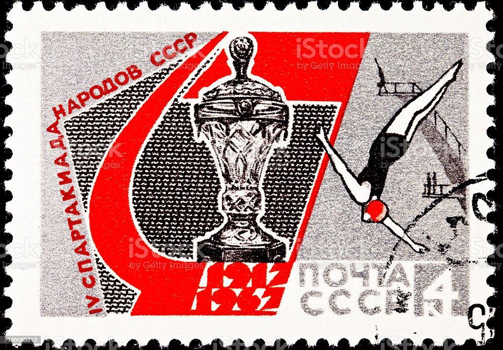 Spartakiad Spartacus Games, 50th Anniversary Soviet Union stock photo
