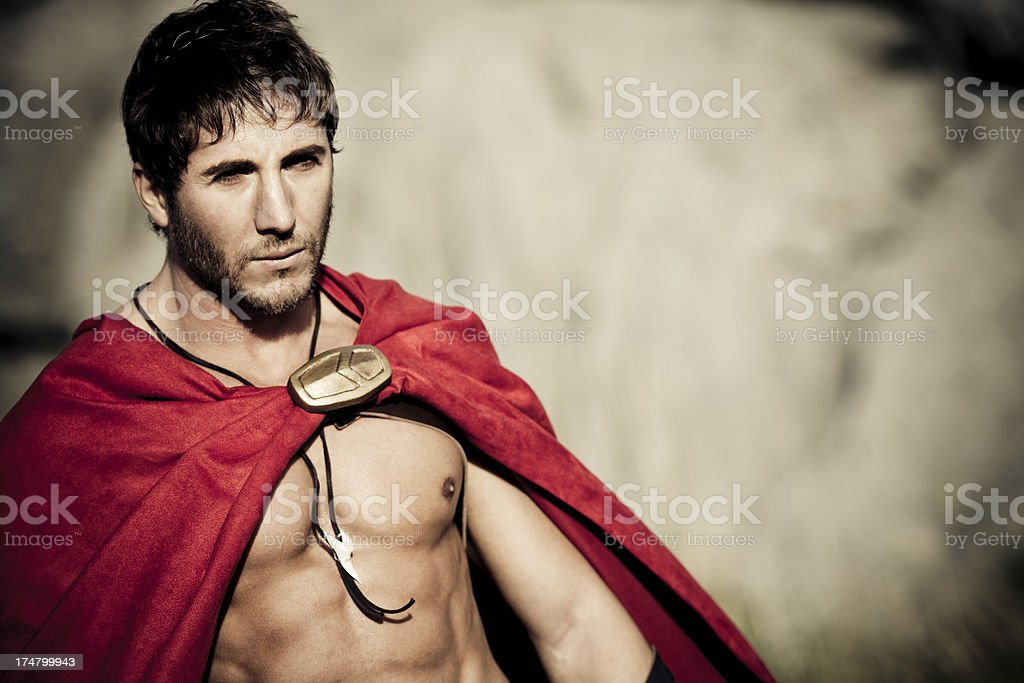 spartan resemble leonidas royalty-free stock photo
