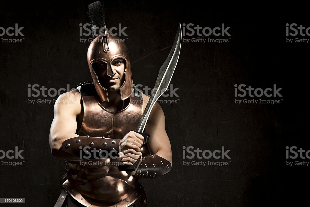 Spartan Warrior royalty-free stock photo