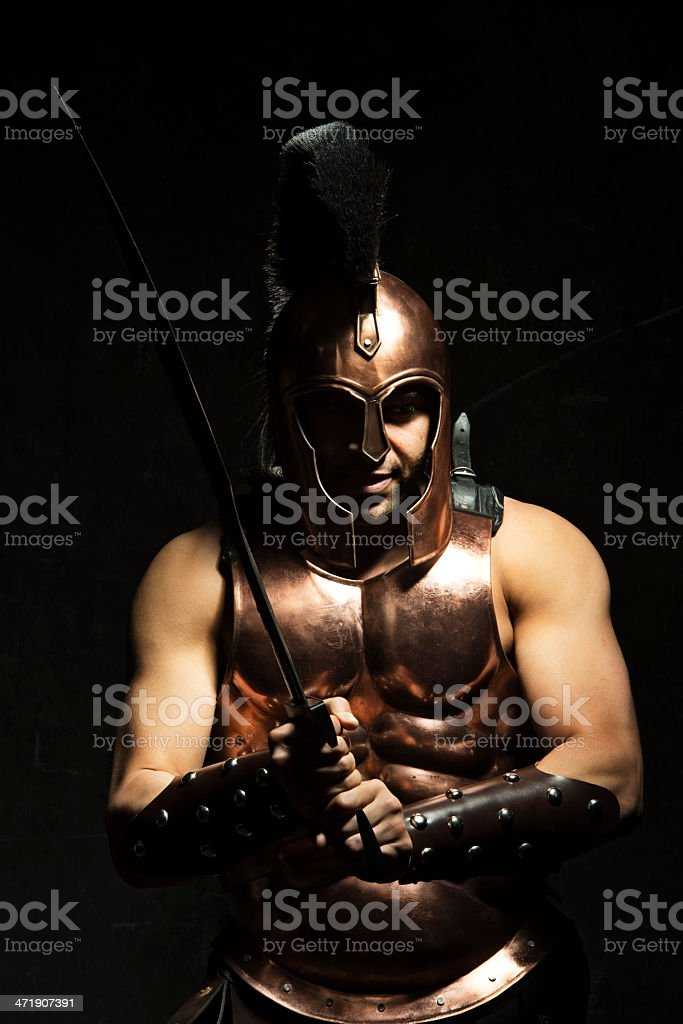Spartan Warrior royalty-free stock photo