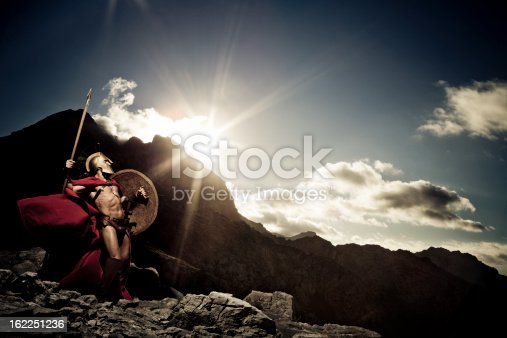 istock Spartan warrior ready to fight 162251236