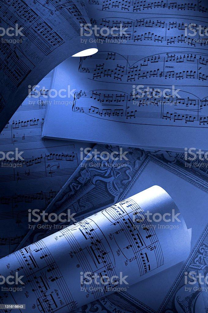 Spartiti musicali royalty-free stock photo