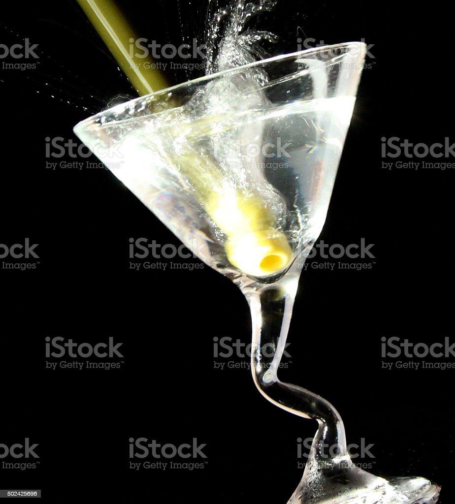 Spashing Martini stock photo