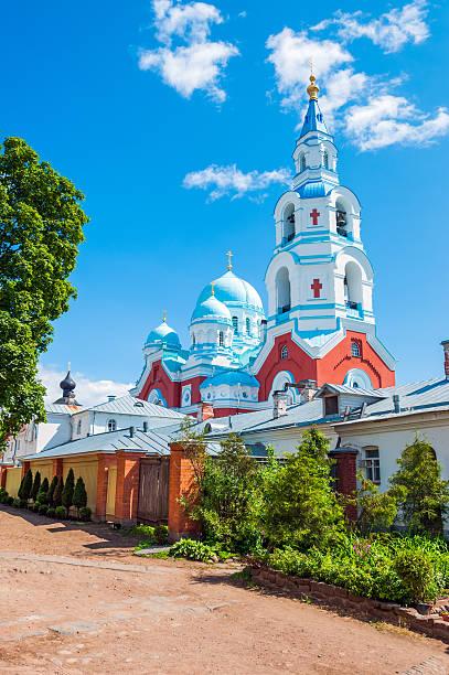 Spaso-Preobrazhenskiy monastery Spaso-Preobrazhenskiy monastery, Valaam island, Russia republic of karelia russia stock pictures, royalty-free photos & images