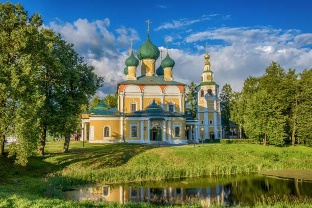 Spaso-Preobrazhensky Cathedral in Uglich of Russia Spaso-Preobrazhensky Cathedral in the Kremlin of ancient town of Uglich of Russia republic of karelia russia stock pictures, royalty-free photos & images