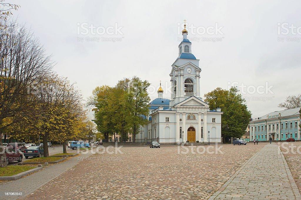 Spaso-Preobrazhensky Cathedral. Vyborg. Leningrad region. Russia royalty-free stock photo