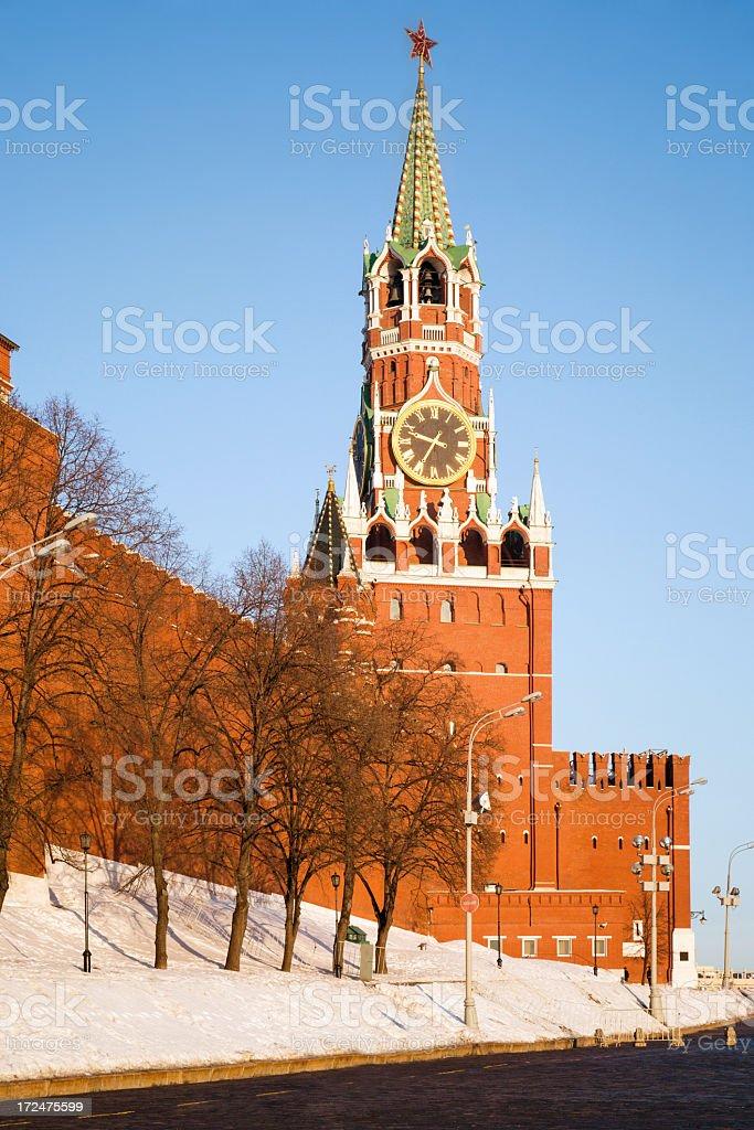 Spasskaya Tower, Kremlin, Moscow royalty-free stock photo