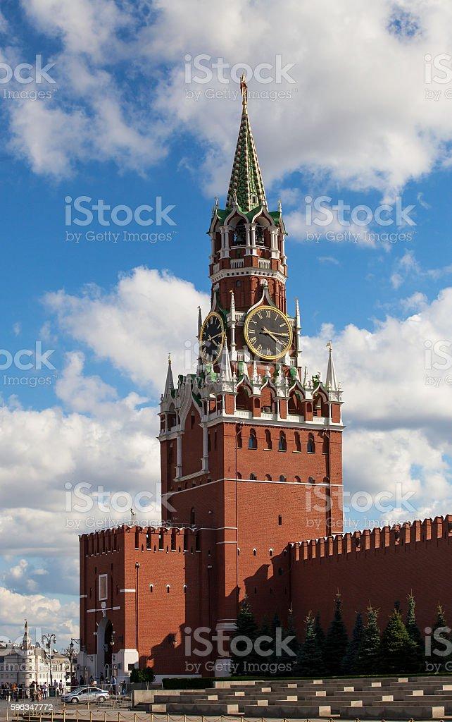 Erlöserturm von Moskau-der Kreml Lizenzfreies stock-foto
