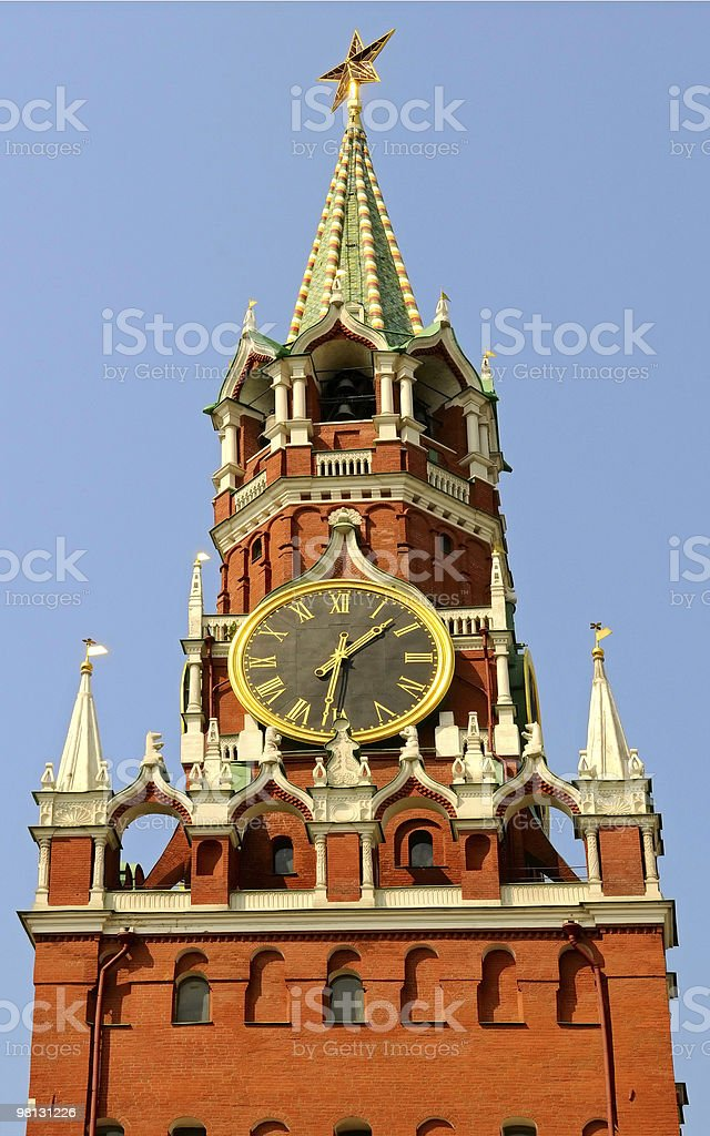 Spasskaya tower royalty-free stock photo