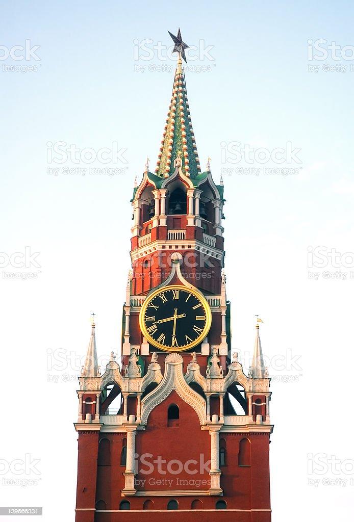 5161 - Spasskaya Tower Top stock photo