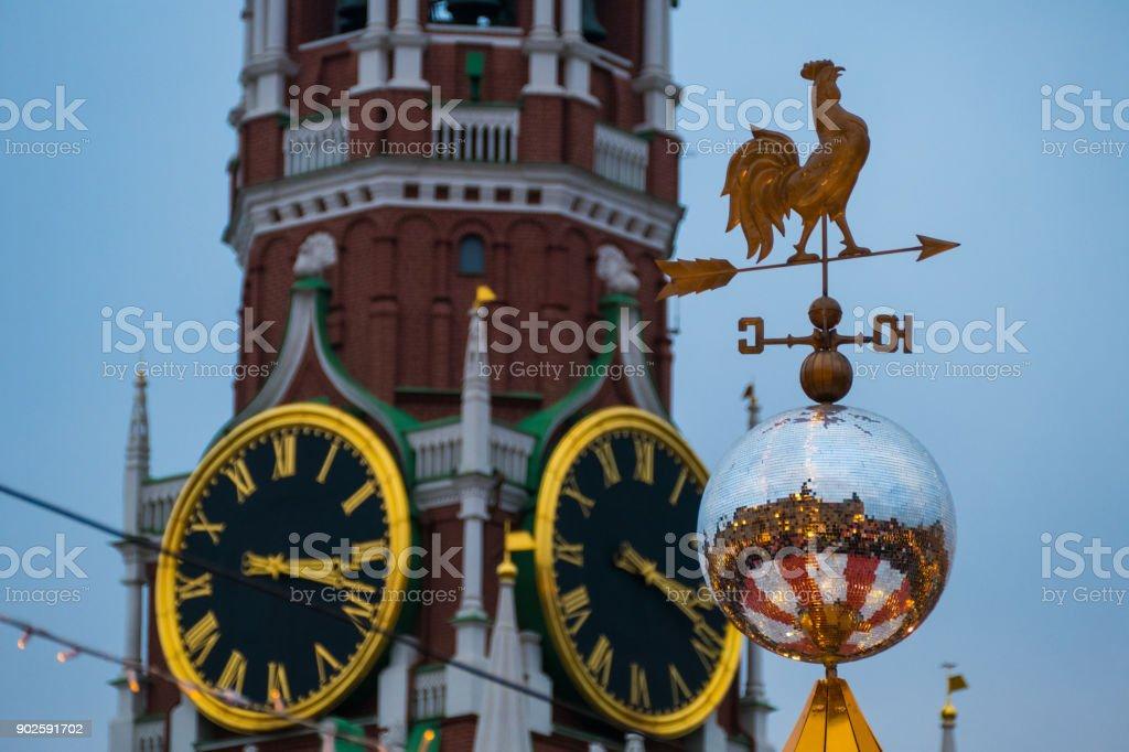 Spassky Tower and Vane stock photo