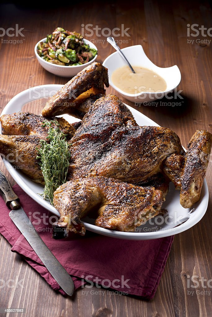 Spatchcock Turkey royalty-free stock photo