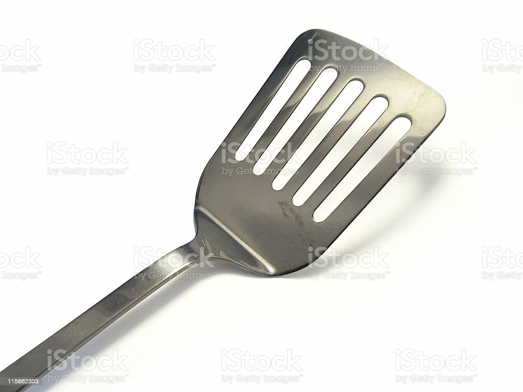 Spatula Isolated - Clipping path royalty-free stock photo