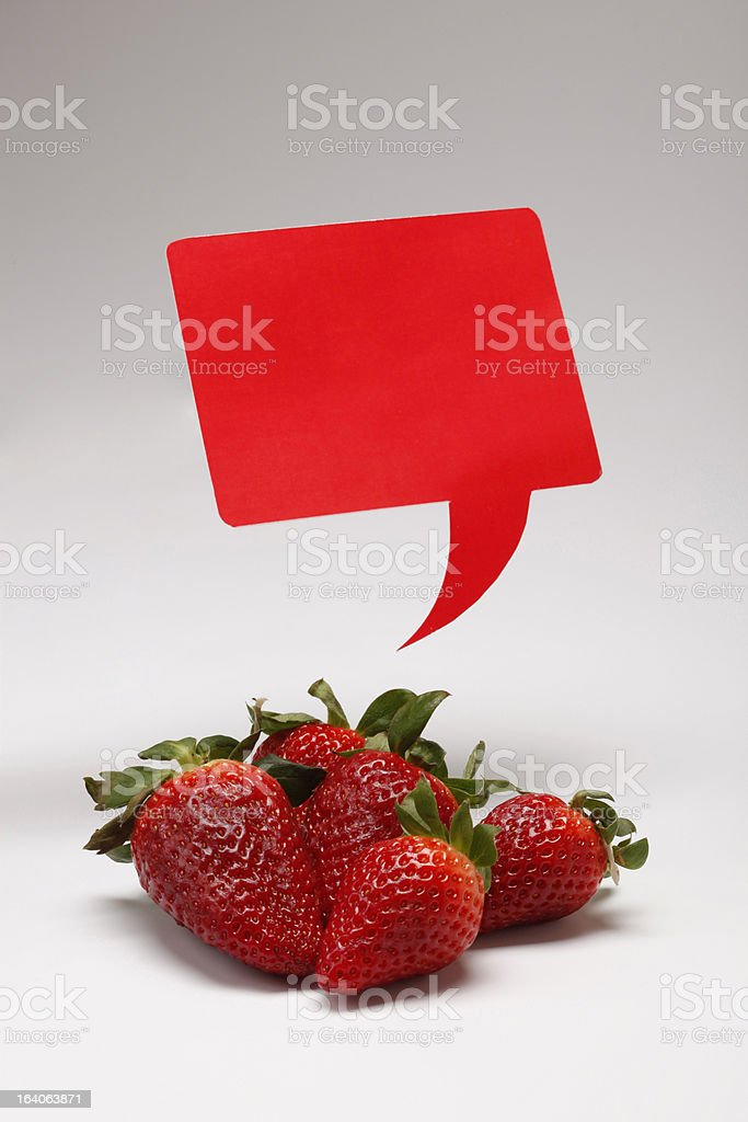 Speach Berry royalty-free stock photo