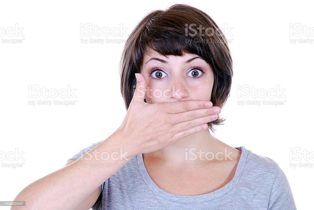 speak no evil royalty-free stock photo