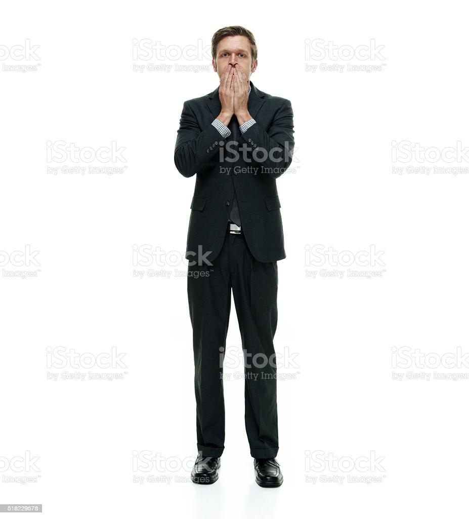 Speak no evil stock photo