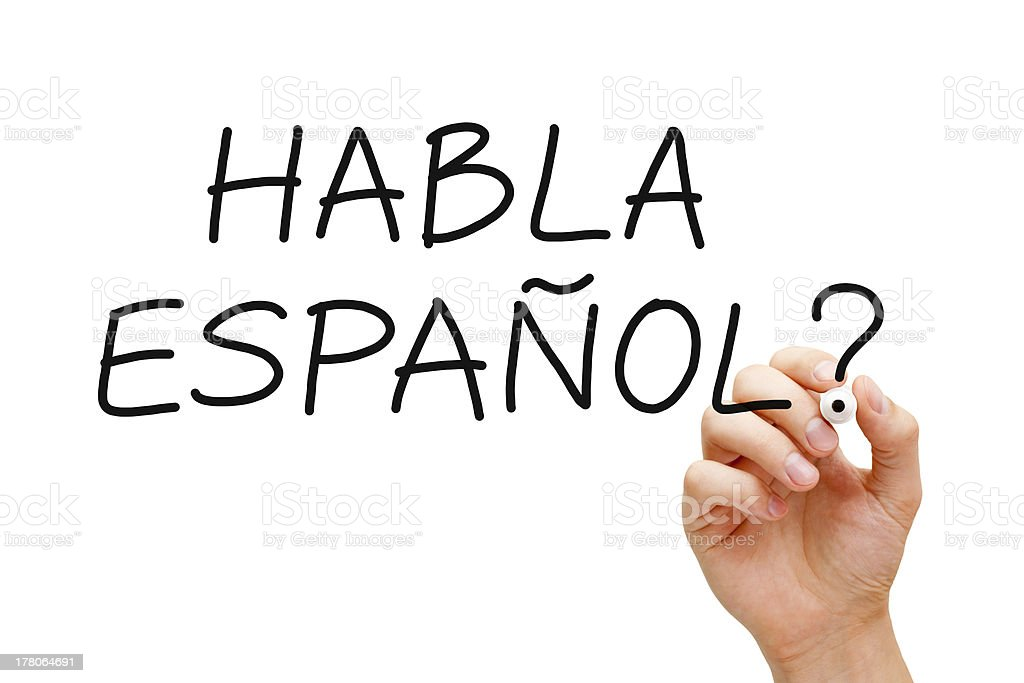 Habla Espanol stock photo